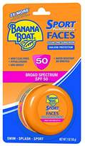 Banana Boat Sunscreen Sport Performance Faces Broad Spectrum Zinc Sun Care Sunscreen - SPF 50, 2 Ounce