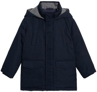 MANGO Boys Hooded Coat - Navy