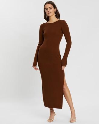 Bec & Bridge Freya Long Sleeve Knit Midi Dress