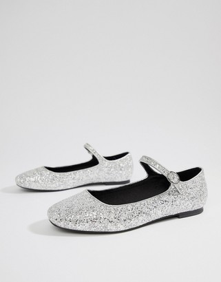 ASOS DESIGN Ledger mary jane ballet flats