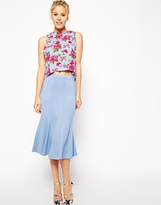 Asos Fluted Hem Pencil Skirt