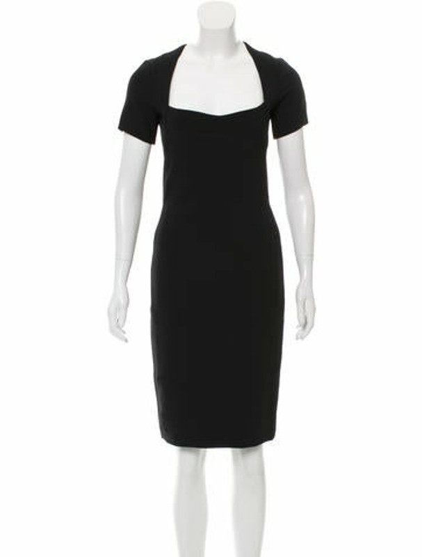 Narciso Rodriguez Short Sleeve Knee-Length Dress Black