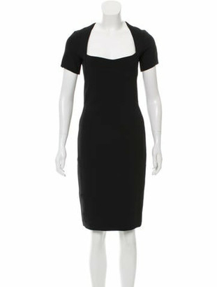 Narciso Rodriguez Short Sleeve Knee-Length Dress Black
