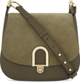MICHAEL Michael Kors Delfina large leather and suede cross-body bag