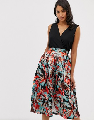Closet London Closet 2 in 1 full skirt dress