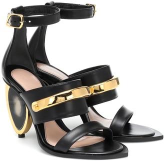 Alexander McQueen Peak embellished leather sandals