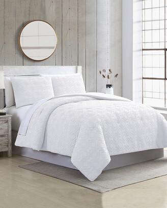 Modern Threads 3Pc Clipped Jacquard Comforter Set