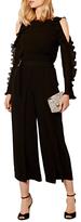 Karen Millen Ruffle Sleeve Blouse, Black