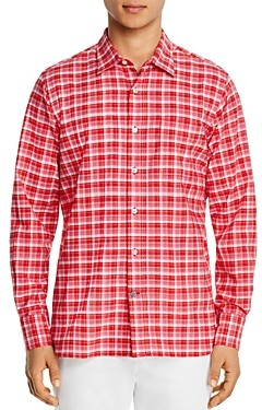 Original Madras Trading Co. Plaid Long-Sleeve Regular Fit Button-Down Shirt