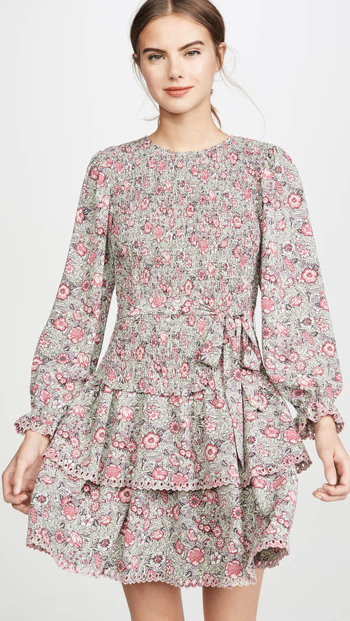 Rebecca Taylor Long Sleeve Camilla Floral Dress