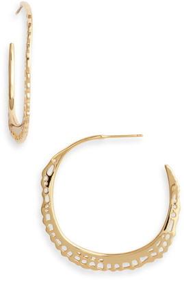 Gorjana Gia Lacy Hoop Earrings