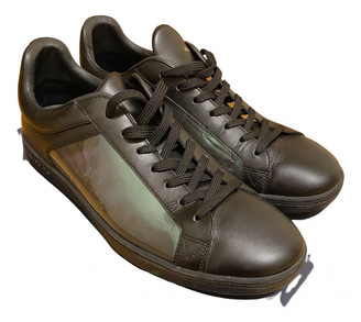 Louis Vuitton Luxembourg Black Leather Trainers