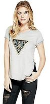 GUESS Women's Keneley Metallic Logo Tee