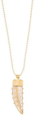 Isabel Marant Studded-pendant Necklace - Womens - White Gold