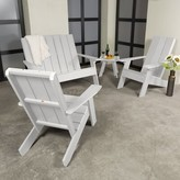 Adirondack Sullivan Chair with Table Longshore Tides Color: White