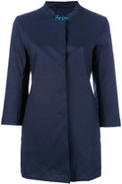 Herno button up coat - women - Cotton/Polyester/Polyurethane - 44