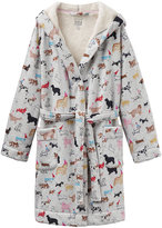 Joules Idlewhile Grey Multi Dog Dressing Gown