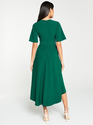 Very Kimono Sleeve Midi Dress- Green