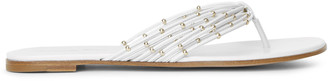 Gianvito Rossi White leather flat thong sandals