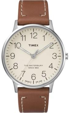Timex Waterbury Classic 40mm Leather Strap Watch