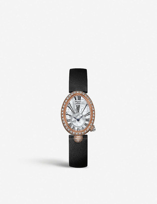 Breguet 8928BR/51/844 DD0D Queen of Naples 18ct red gold, mother-of-pearl and diamond watch