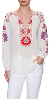 Antik Batik Cotton Embroidered Drawstring Blouse