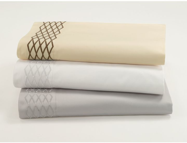 Waterford Linens Diamond Stitch Deep Pocket Sheet Set