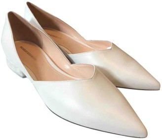 Nicholas Kirkwood White Leather Ballet flats