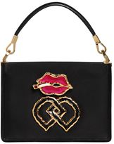 DSQUARED2 Small Lips Charm Satin Shoulder Bag