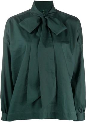 Jejia Tied Neck Wide Sleeve Shirt