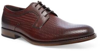 Steve Madden Maquel Leather Textured Plain Toe Derby