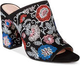 Avec Les Filles Margaux Embroidered Block-Heel Slides Women's Shoes