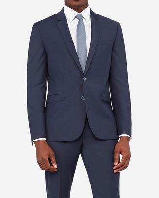 Express Extra Slim Navy Wrinkle-Resistant Wool-Blend Performance Stretch Suit Jacket