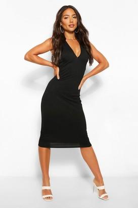 boohoo Plinge Sleeveless Midi Dress