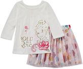 Disney Girls Short Sleeve Skirt Set