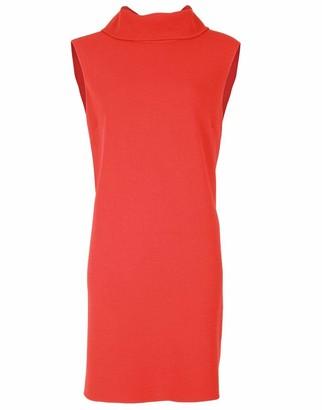 Oscar de la Renta Back Tie Scarf Shift Dress