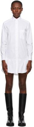 RED Valentino White Ruffle Shirt Dress
