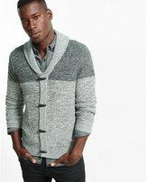 Express marled color block shawl collar cardigan