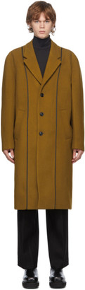 ANDERSSON BELL Tan Wool Daddy Classic Coat