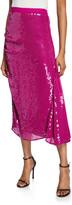 Pinko Sequined Midi Skirt with Godet