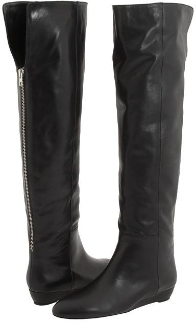 Loeffler Randall Riley Over-knee Back Zip Boot (Black) - Footwear