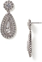 Nadri Scallop Tear Drop Earrings