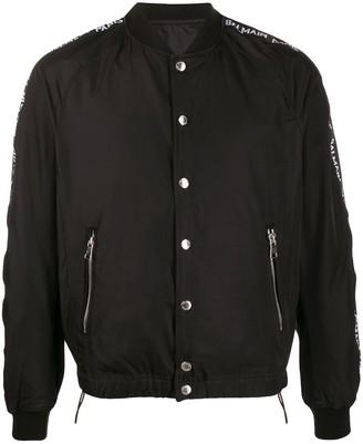 Balmain Logo Band Bomber Jacket