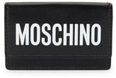Moschino Logo Tri-Fold Leather Wallet