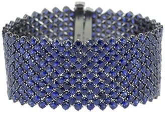 Bayco 18kt Black Gold Wide Sapphire Bracelet