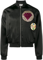 Saint Laurent embellished bomber jacket - men - Cotton/Cupro/Viscose - 46