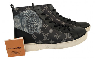 Louis Vuitton Match Up Blue Leather Trainers