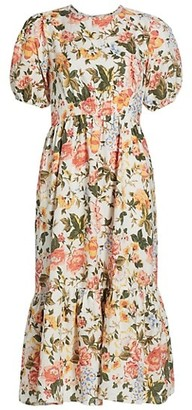 Faithfull The Brand Le Temps Des Fleur Midi Dress