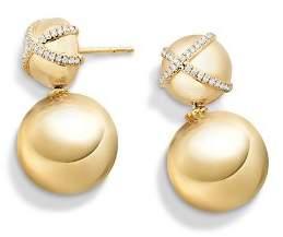 David Yurman Solari Double Drop Earrings with Diamonds in 18K Gold
