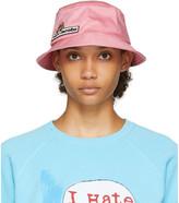 Marc Jacobs Pink Logo Bucket Hat